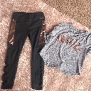 Justice leggings and shirt